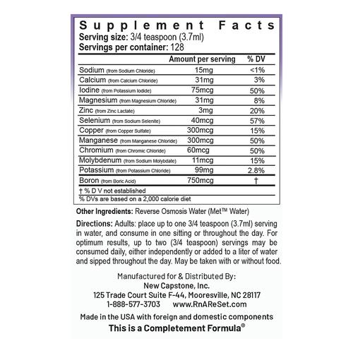 ReMyte - Solution minérale | Solution multi-minérale Pico-ion du Dr Dean - 480ml